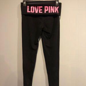 Pink leggings xs
